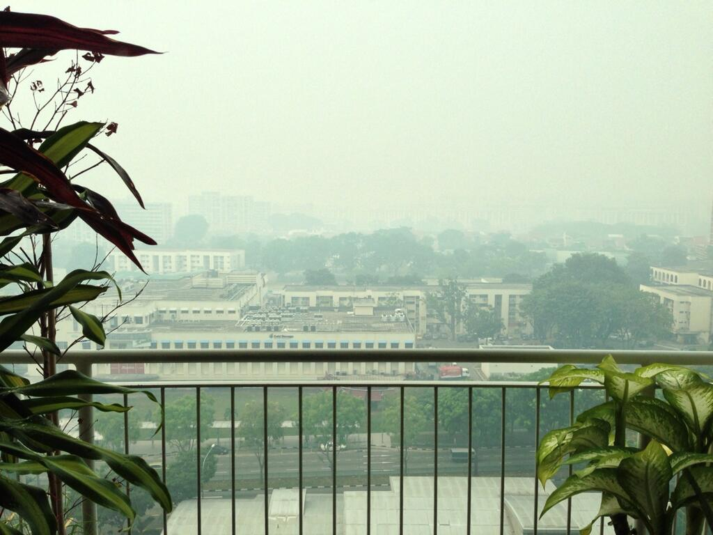 Haze in singapore sghaze in my mind daily w rite for Balcony wallpaper